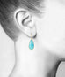 Sleeping Beauty Turquoise Teardrop Earrings