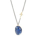 Asymmetrical Rose Cut Tanzanite Necklace with Coral Branch Detail