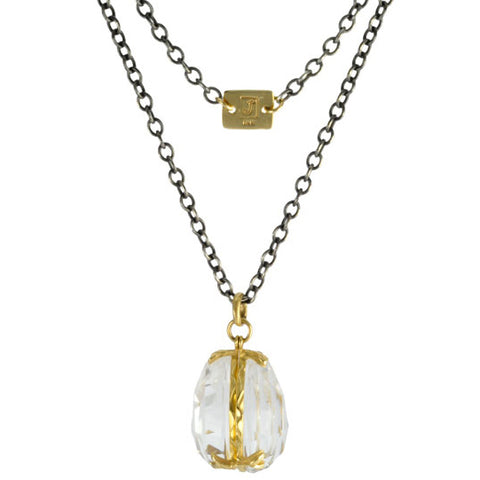 "Rock Crystal ""Locket"" Necklace"