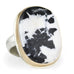 Jamie Joseph Vertical Oval White Buffalo Turquoise Ring