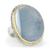 Vertical Asymmetrical Indian Blue Opal Ring