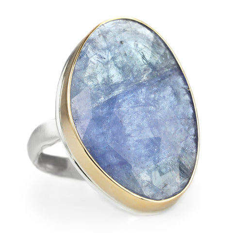 Jamie Joseph Vertical Asymmetrical Rose Cut Tanzanite Ring