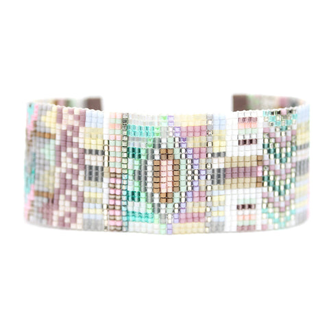 "Julie Rofman Beaded Wide ""Oslo"" Bracelet"