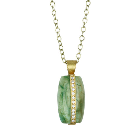 Karen Liberman Gold and Turquoise Pendant Necklace with Diamonds