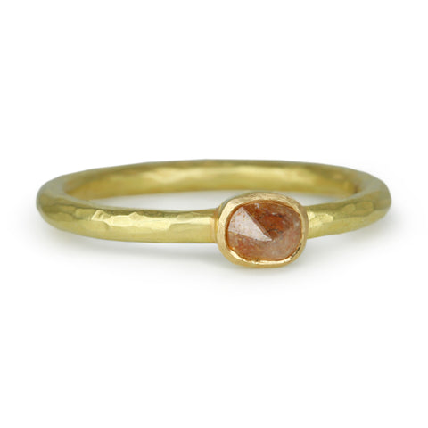 Gold and Red-Brown Diamond Ring