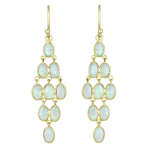 "Kothari Australian Opal ""Deco"" Chandelier Earrings"