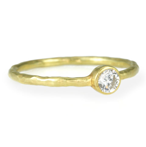 Gold and Full Cut Diamond Stacking Ring