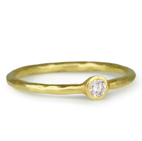 Gold and Fancy Colored Diamond Stacking Ring