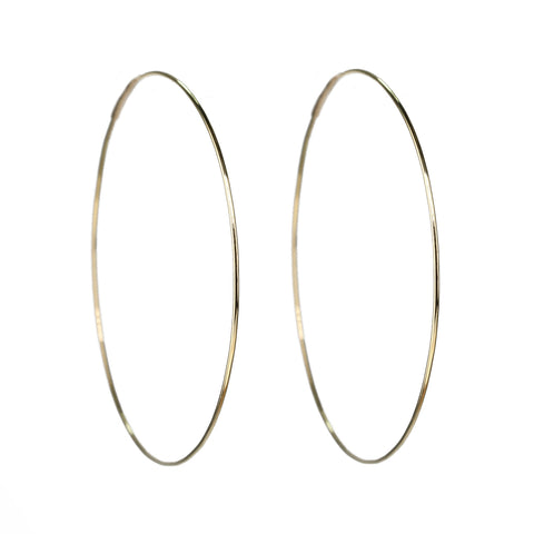 Kathleen Whitaker Gold Medium Hoop Earrings