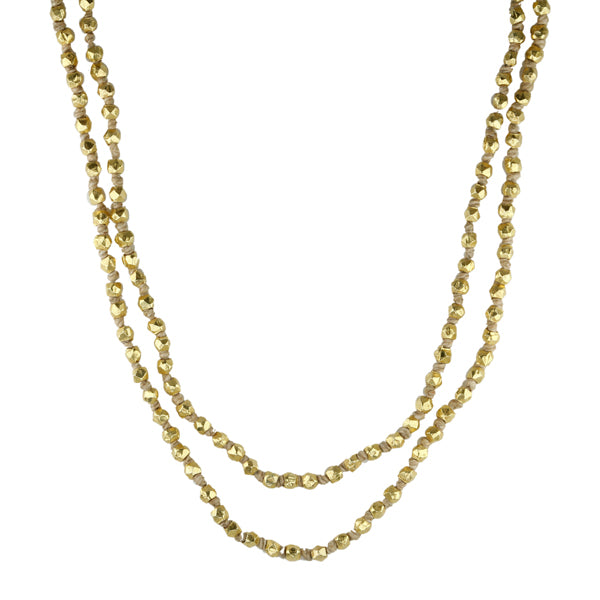Gold Plated Knotted Cord Necklace