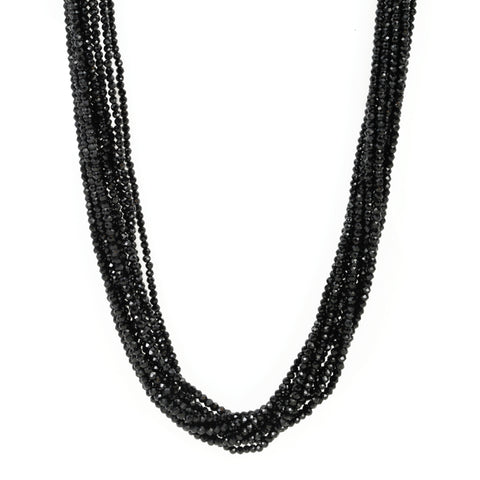 Lena Skadegard Faceted Black Spinel Multi-Strand Necklace