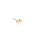 Zoe Chicco Gold Mixed Diamond Post Earrings