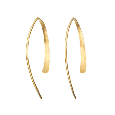 "Medium Gold ""Wishbone"" Earrings"