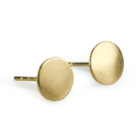 Gold Circle Post Earrings