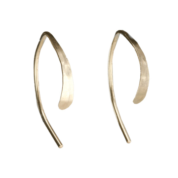 Melissa Joy Manning Gold Extra Small Wishbone Hoop Earrings