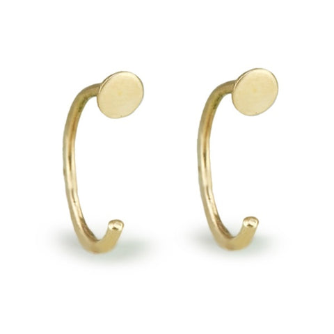 "Gold Circle ""Hug"" Earrings"