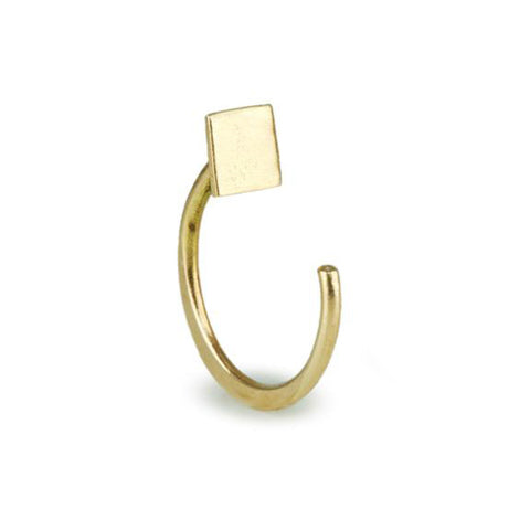 Single Gold Square Hug Earring