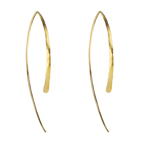 "Large Gold ""Wishbone"" Earrings"
