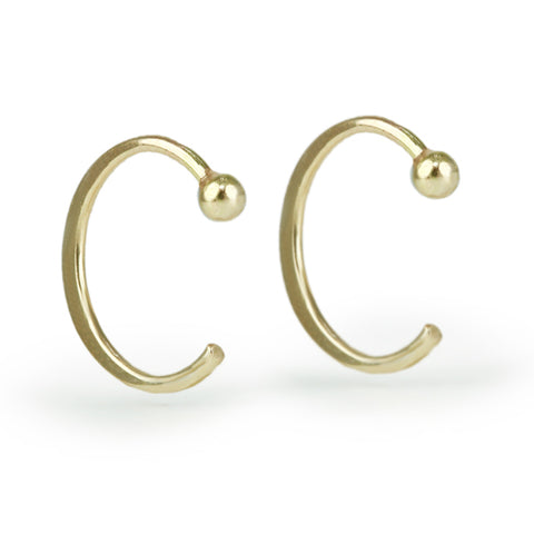 "Small Gold ""Hug"" Earrings"
