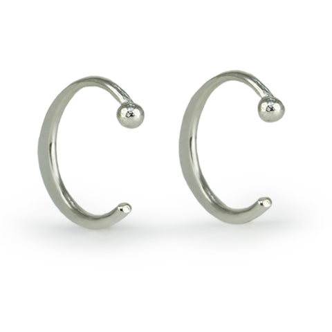 "Small Sterling Silver ""Hug"" Earrings"