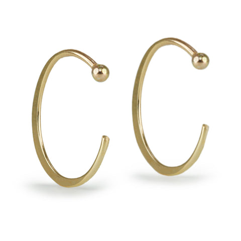 "Large Gold ""Hug"" Earrings"