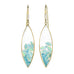 "Paraiba Tourmaline, Opal, and Diamond Marquise ""Shake"" Earrings"
