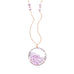 "Pink Sapphire and Diamond ""Shake"" Necklace"