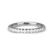 Platinum and Diamond Medium Eternity Band