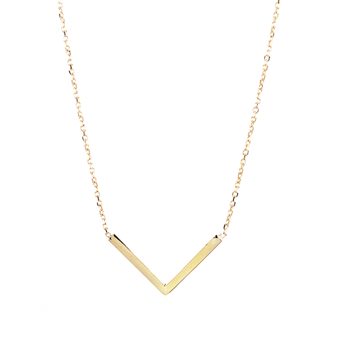 "Adina Reyter Gold Tiny ""V"" Necklace"