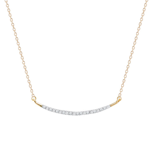 Adina Reyter Gold and Pavé Diamond Curve Necklace