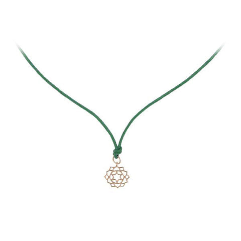 Rose Gold Mini Anahata/Heart Chakra Pendant