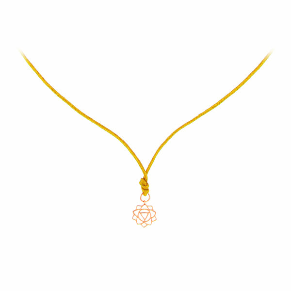 Rose Gold Mini Manipura/Confidence Chakra Pendant