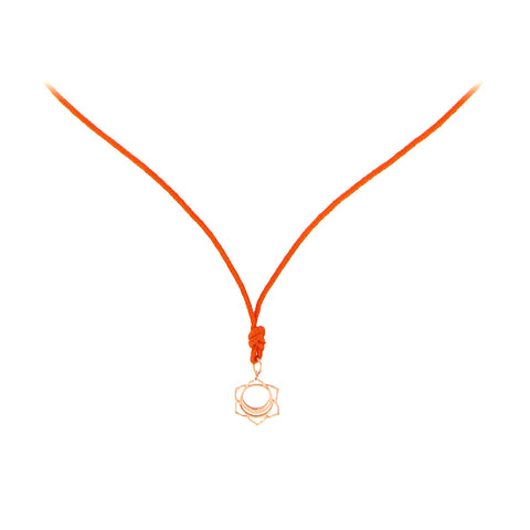 Rose Gold Mini Svadisthana/Creativity Chakra Pendant