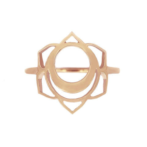 Tiny Om Creativity/Svadisthana Ring in Rose Gold