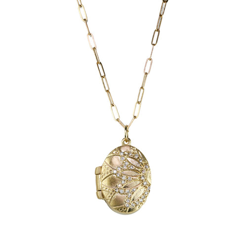 "Gold and Diamond ""Locket"" Necklace"