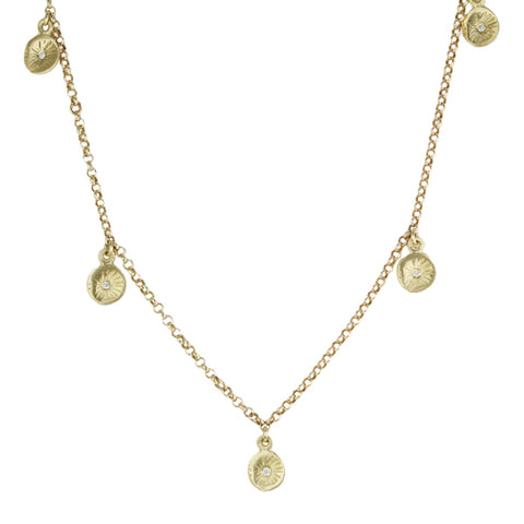 "Gold and Diamond ""Astrid"" Necklace"