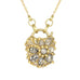 "Gold ""Petit Coeur de Fantaise"" Padlock Necklace with Grey and White Diamonds"