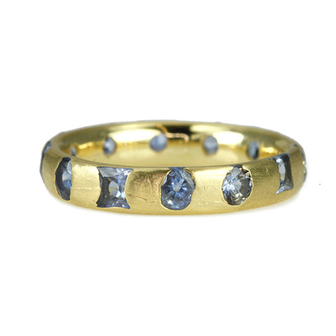 "Polly Wales Gold and Light Blue Sapphire ""Celeste"" Ring"