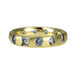 "Gold and Light Blue Sapphire ""Celeste"" Ring"
