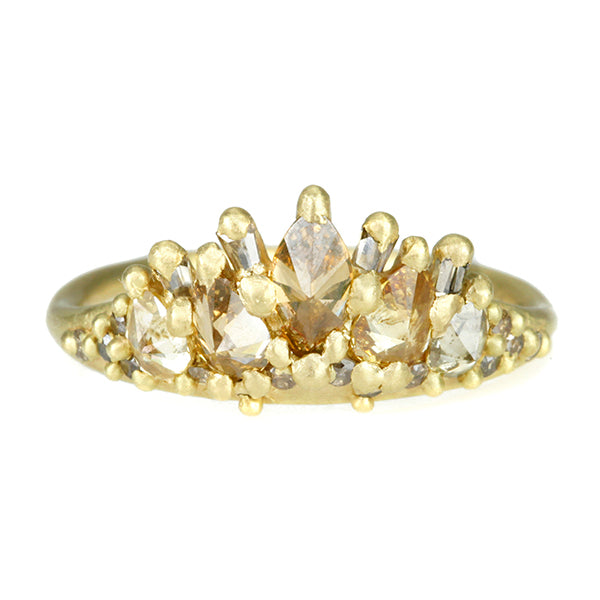 "Gold and Diamond ""Gateway to Paradise"" Halo Ring"