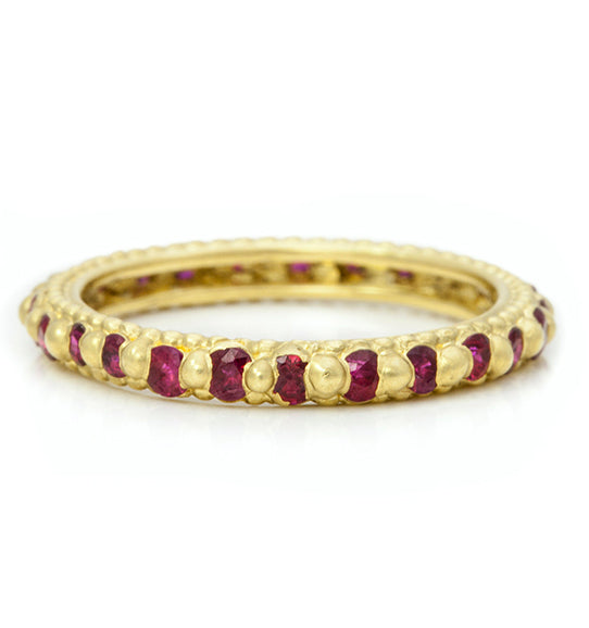"Gold and Ruby ""Rapunzel"" Ring"