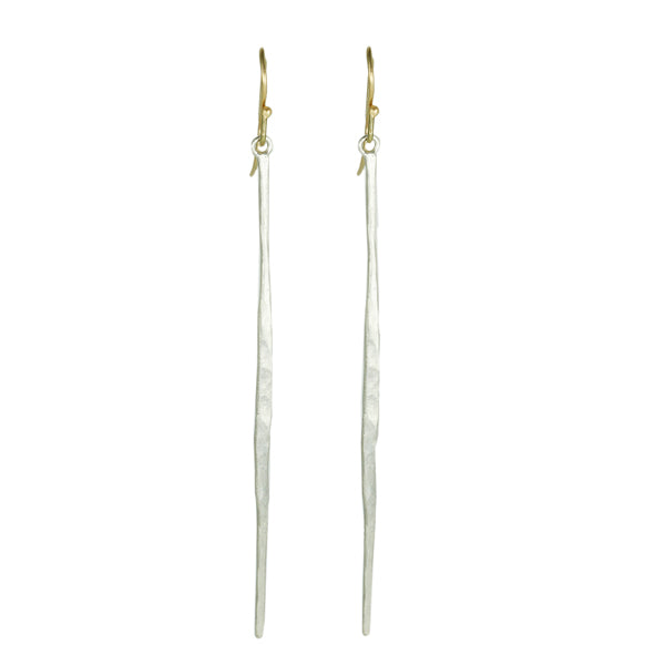"Sterling Silver Hammered ""Matchstick"" Earrings"