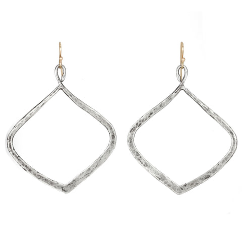 "Sterling Silver Large ""Twisted Hoop"" Earrings"