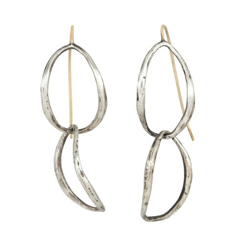 "Sterling Silver ""Double Drop"" Earrings"