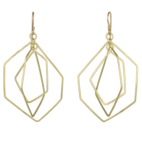 Rosanne Pugliese Gold Triple Origami Earrings