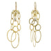 "Rosanne Pugliese 22K Gold ""New Sculpture"" Earrings with Grey Diamonds"
