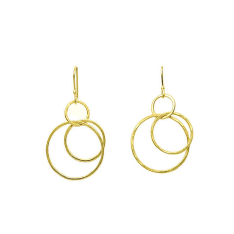 "22K Gold Medium ""Magnolia"" Earrings"
