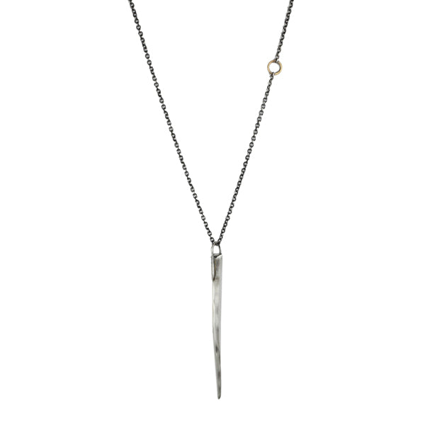 "Sterling Silver ""Stick"" Pendant Necklace"