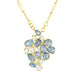 "Rosanne Pugliese ""Florette"" Blue and White Sapphire Pendant on 22K Gold Handmade Chain"