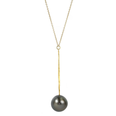 "Rosanne Pugliese 22K Gold and Tahitian Pearl ""Matchstick"" Necklace"